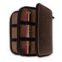 Leather Panel-style 120/Pencil Case Black