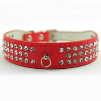Lesypet Dog Doggie Cats Leather Collars Necklaces Bling