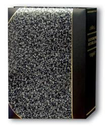 Pioneer Photo Albums 50-Pocket Silver Marble and Black