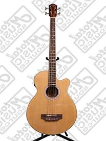 Left Hand Oscar Schmidt Acoustic Electric Bass Guitar, Lefty