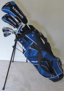 Left Handed Junior Golf Club Set with Stand Bag for Kids