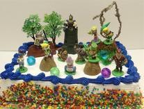 Legend of Zelda Birthday Cake Topper Set Featuring Link,
