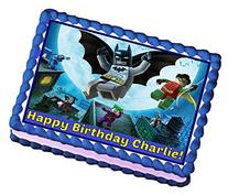 Lego Batman Personalized Edible Cake Topper Image -- 1/4