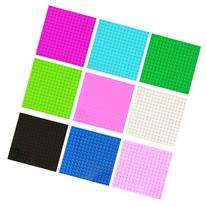 Set of 9 Lego Compatible 5X5 Building Boards 9 Colors