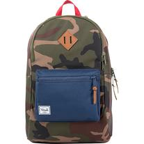 Lennox Laptop Backpack Woodland Camo / Navy / Red -  Laptop