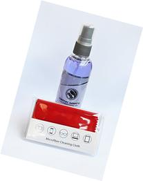 Glasses Cleaner Spray Kit - Includes Thick Microfiber Cloth