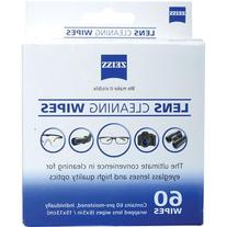 Zeiss Lens Wipes, 60 Pack