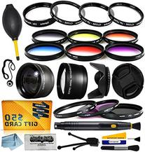 58mm Professional Lenses Filters Accessories Kit includes 0.