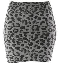 Shosho Leopard Seamless Mini Skirt