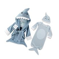 Baby Aspen Let the Fin Begin Bundle with Shark Robe & Shark