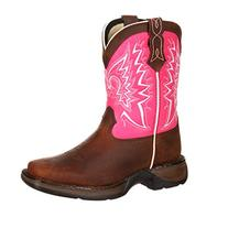 Durango Girls' Lil' Let Love Fly Western Boot Square Toe