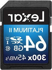 Lexar Platinum II 300x SDXC 64GB UHS-I/U1  Flash Memory Card