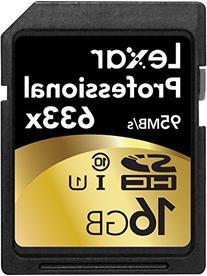 Lexar Professional 633x 16GB SDHC UHS-I/U1 Card  w/Image