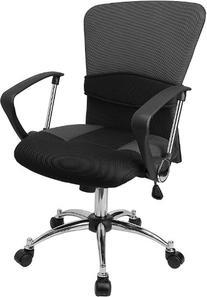 Flash Furniture LF-W23-GREY-GG Mid-Back Grey Mesh Office