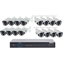 LOREX LH16162TC167B ECO6 Stratus Cloud 960H 2TB DVR & 16