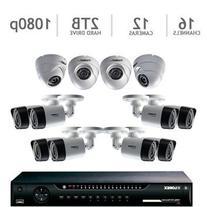 Lorex LHV162C8D4B 16CH 2TB DVR with 1080P CAMERAS 8 BULLET