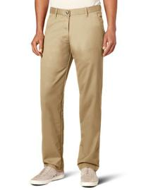 Haggar Men's Life Khaki Slim Fit Flat Front Chino Casual