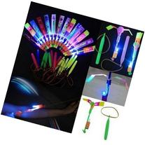 Happyi 25pcs Amazing Led Light Arrow Rocket Helicopter