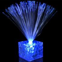 "5.5"" Light Up Small Blue Fiber Optic Centerpiece"