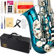 Glory Light Blue/Silver keys E Flat Alto Saxophone with