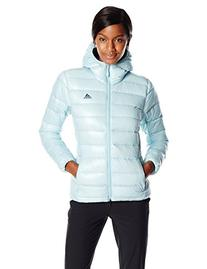 adidas Outdoor Women's Light Down Hooded Jacket, Frozen Blue