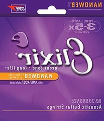 Elixir Strings 80/20 Bronze Acoustic Guitar Strings w