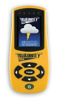 Strike Alert HD Lightning Detector, Yellow