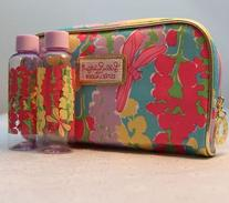 Estee Lauder Lilly Pulitzer Snapdragon Print Cosmetic Bag wi