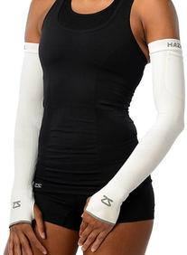 Zensah Limitless Compression Arm Warmers, White, Small/
