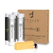 Beauty by Earth Organic Beeswax Lip Balm, Unflavored and