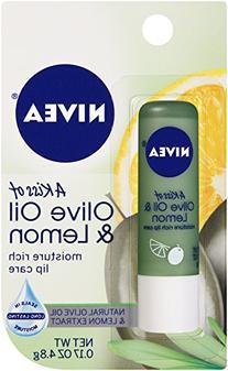 Nivea Lip Care, Moisture Rich, Olive Oil & Lemon by Nivea