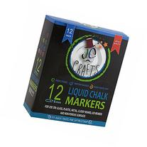 JC Crafts Liquid Chalk Markers With Reversible Tip, Huge