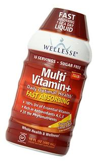 Wellesse Liquid Multivitamin + Sugar Free Dietary Supplement