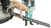 Pet Gear Tri-Fold Ramp 71 inch Extra Wide Pet Ramp Holds