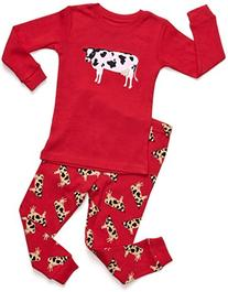 Leveret Cow 2 Piece Pajama 3 Year