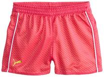 PUMA Little Girls' Active Double Mesh Short, Pink Glo, 6X