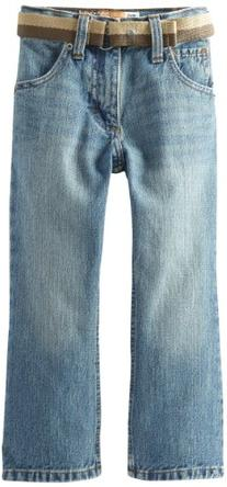 Little Boys' Dungarees Belted Relaxed Bootcut Jean, Hancock
