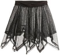 Danskin Little Girls' Iridescent Handkerchief Skirt, Rich