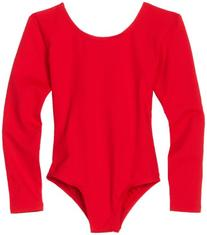Danskin Little Girls' Long-Sleeve Leotard, Red, Toddler