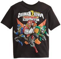 Power Rangers Little Boys' Megaforce T-Shirt, Black, 7