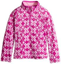 Hatley Big Girls' Mock Neck Fleece Jacket, Magenta