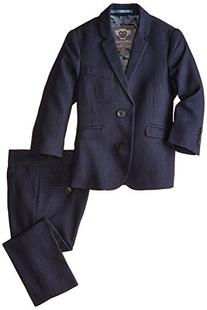 Appaman Little Boys' Mod Suit, Navy Herringbone, 2T
