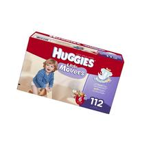 Huggies Little Movers Diapers Economy Plus, Size 6, 112