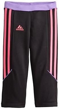 adidas Little Girls' Performance Pant, Purple/Black/Pink, 6X
