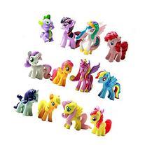 OliaDesign Set of 12 Little Pony PVC Toy Cake Topper