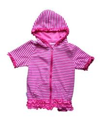 SwimZip Little Girl Swimsuit Cover-Up with UPF 50+ Pink 5T