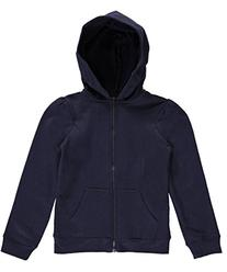 French Toast Toddler Girls' Fleece Hooded Jacket, Navy, 4T