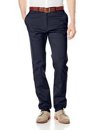 Haggar Men's LK Life Slim-Fit Twill Pant, Navy, 34x32