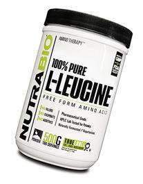 NutraBio 100% Pure L-Leucine Powder - 500 Grams