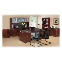 Lorell LLR68706 Executive Desk, Mahogany